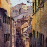 Siena street scene Italy watercolour paintings