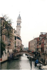 Venice Leaning Bell Tower of San Giorgio Dei Greci reference photo for watercolor painting video