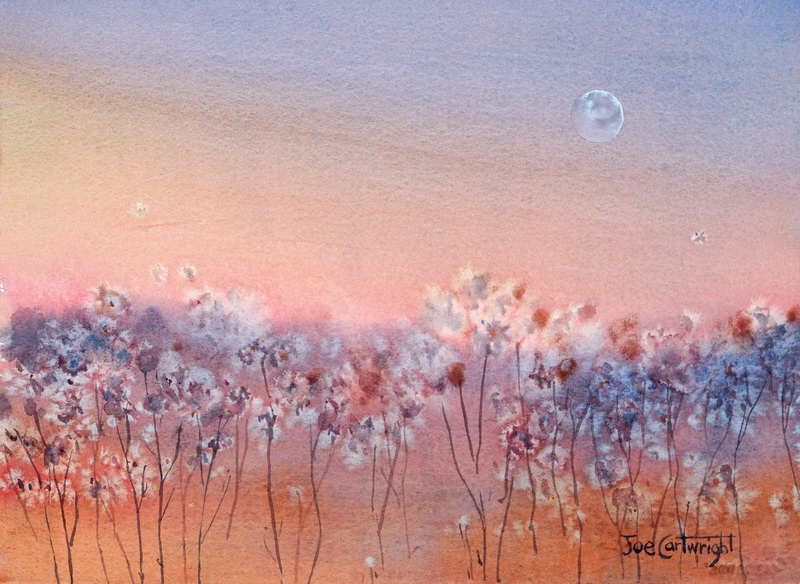 Another Version Of This Easy Watercolour Painting Using Salt