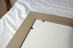 Frame and backing board not at the same level - how to frame a watercolour painting