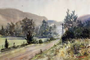 Last Mist - Glen Davis watercolor painting