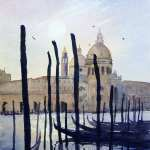"Watercolor painting for sale. Santa Maria Della Salute 2 10.5"" x 14.5"" (27cm x 37cm) AUD$300"