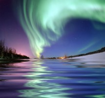 Aurora Borealis Norway Painting With Words