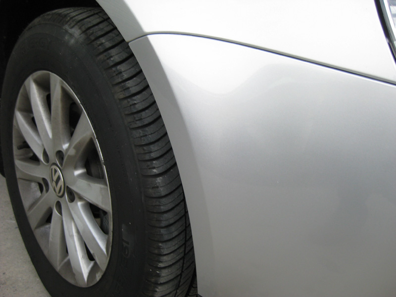 Cracked wheel arch repaired by Paintmedic