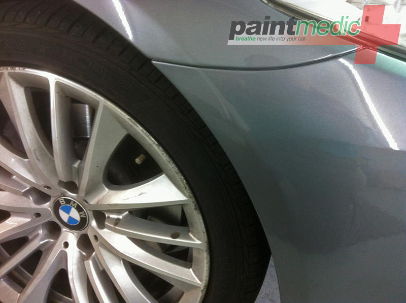 BMW bumper scratch after Paintmedic repair