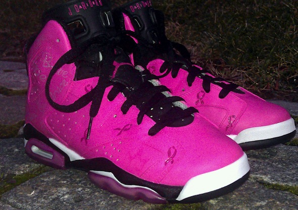 pink breast cancer air jordan vi shoes da prince 4 Breast Cancer Awareness Air Jordan VI Shoes by Da Prince Customs