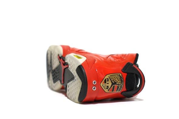 porsche 911 air jordan vi c2 customs 7 Red Porsche 911 Custom Air Jordan VI Shoes by C2 Customs