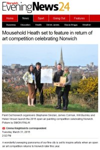 Paint Out Norwich 2015 announcement, Norwich Evening News, 31 March 2015