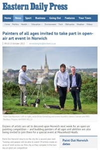 Painters of all ages invited to take part in open-air art event in Norwich, EDP, 13 October 2015