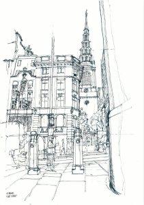 Wren Triptych 2, St Brides, Fleet Street by Mark Greenwood