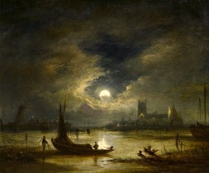 Moonlight in Norwich, John Crome, Norwich School of Artists