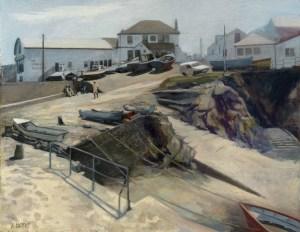 Richard Bond Coverack Harbour Cornwall Watercolour