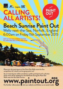 Wells-next-the-Sea Norfolk sunrise public Paint Out 11 Sep 2015