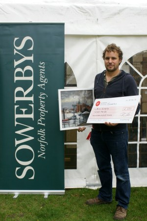 Third Prize at Paint Out Wells 2016 Brian Korteling 'The Albatros' - photo by Katy Jon Went