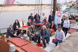 Paint Out Wells 2015 Artists gather on Albatros Ship