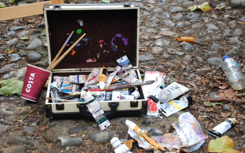 Artist materials at Paint Out Norwich
