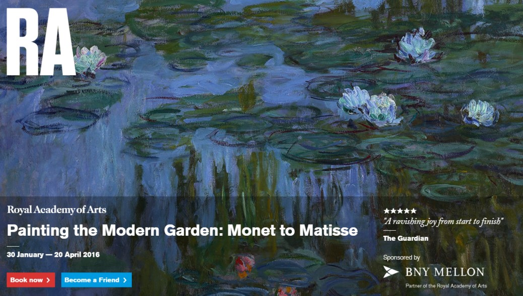 Royal Academy Exhibition Painting the Modern Garden Monet to Matisse