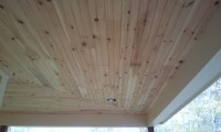 Tongue and Groove knotty pine porch ceilling - Paint Talk ...
