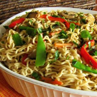 Chinese Noodles with Tofu