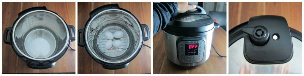 Instant Pot Hard Boiled Eggs Step 1
