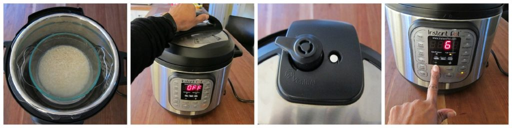 Instant Pot Rice Pot in Pot Method Step 2
