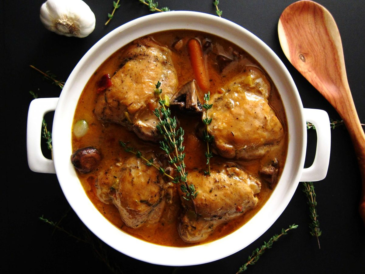 Hearty Instant Pot Coq Au Vin Blanc