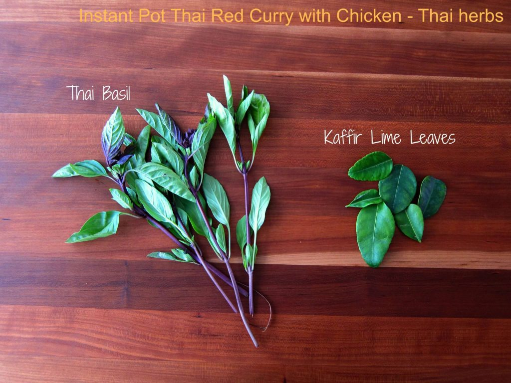 Instant Pot Thai Red Curry Chicken Ingredients Herbs - Paint the Kitchen Red