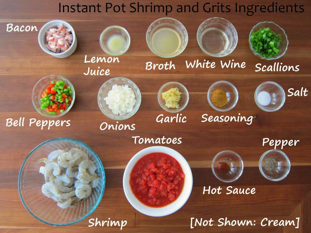 Best Instant Pot Shrimp and Grits Ingredients - Paint the Kitchen Red