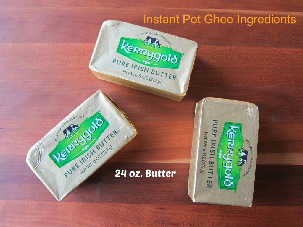 Instant Pot Ghee Ingredients - Paint the Kitchen Red