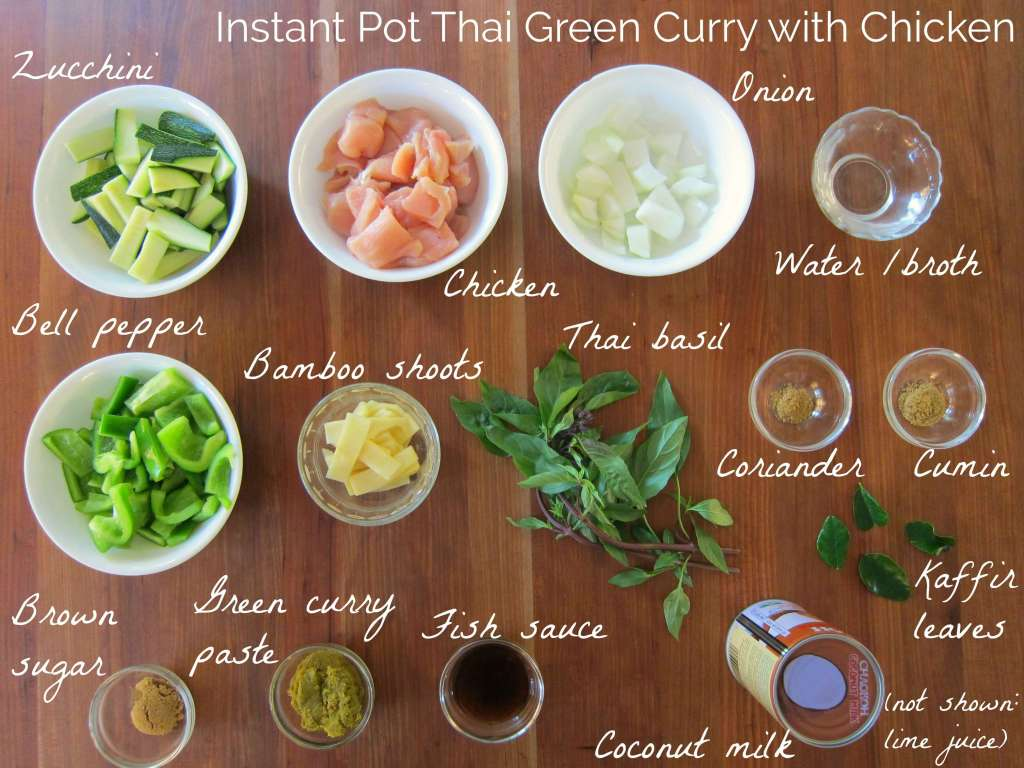 Instant Pot Thai Green Curry Ingredients - Paint the Kitchen Red
