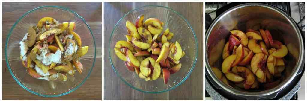 Instant Pot Peach Crisp Instructions 3 - Paint the Kitchen Red