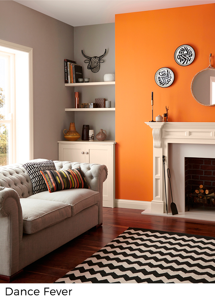 Geel en oranje verfkleuren in uw interieur  Painttrade