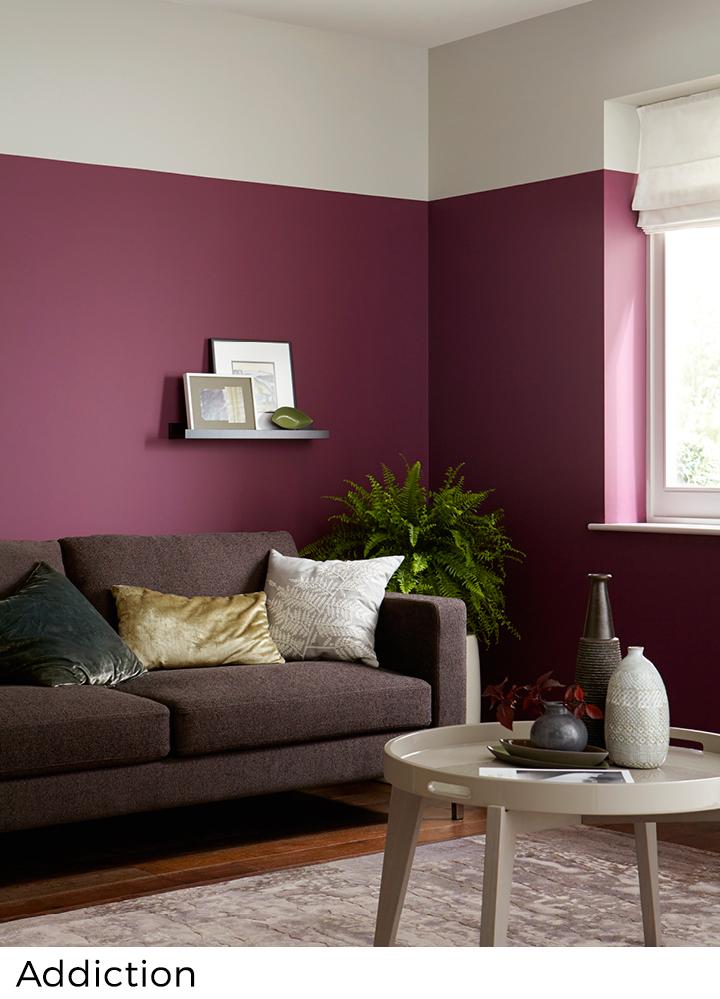 Rode roze en paarse verfkleuren  Painttrade