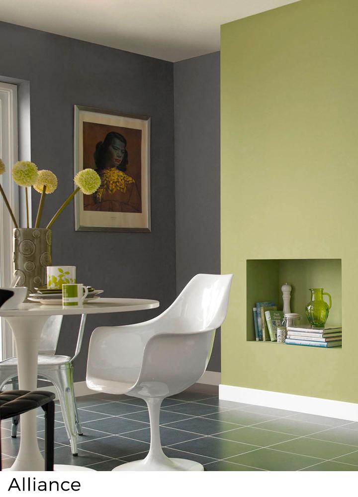 Nuancier peinture murale vert  Painttrade