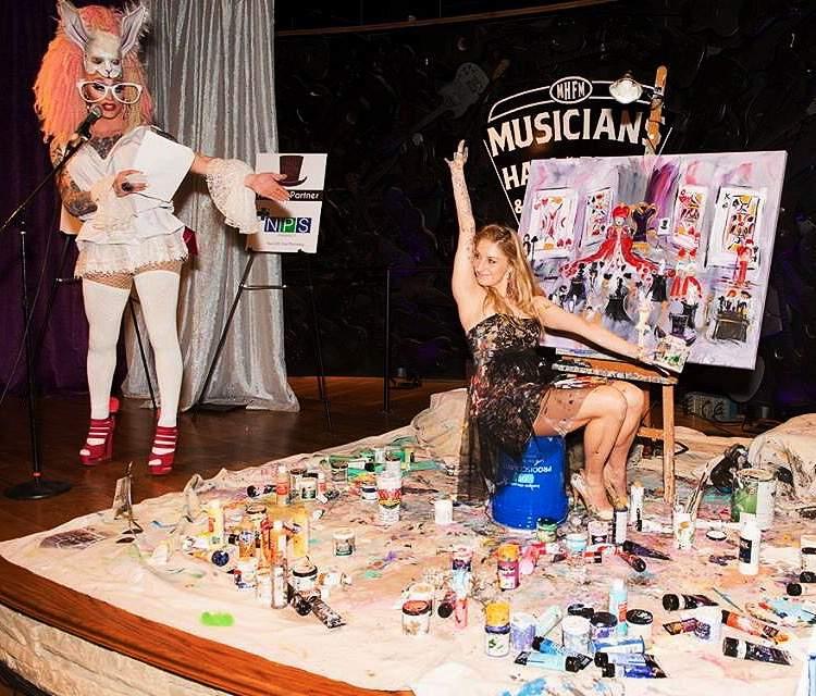 Mad Hatters Ball  Paint Your Event  Artist Heidi Schwartz