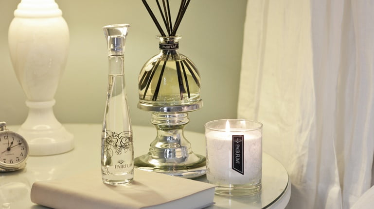 silver candle holder  pedestal for luxury scented candles