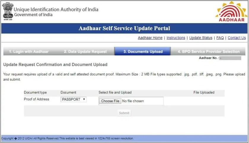 PoA for Aadhaar verification
