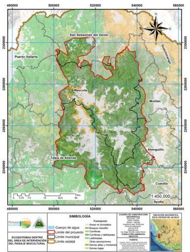 Ecosistemas en el área de intervención del Paisaje Biocultural