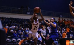 Tija Hawkins going above and beyond to take the ball to the rim.