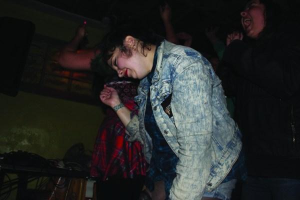 Guest dances without a care.