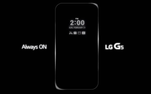 LG G5 Display Always On
