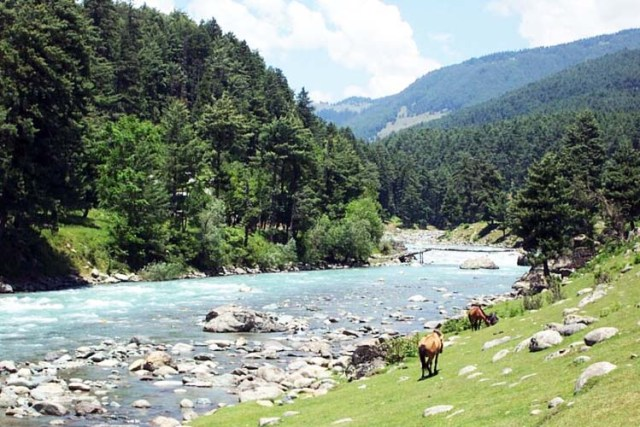 The scenic beauty of Kashmir