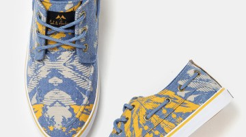 Mast & Harbour Men Blue & Yellow Printed Boat Shoes