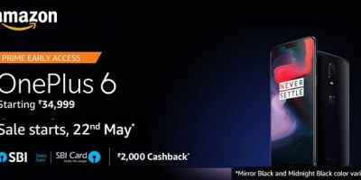 Amazon Sale Offers on OnePlus 6