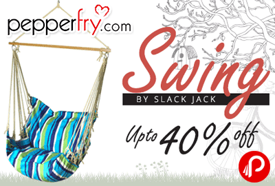swing chair with stand pepperfry rocking wood coupon code 2018 discount coupons swings chairs by slack jack