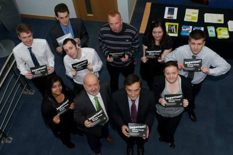 Councillors Holmes and Williams with Welfare Reform housing trainees