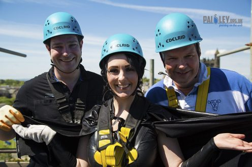 Renfrewshires provost charity abseil
