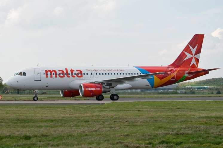 Air Malta aircraft at GLA