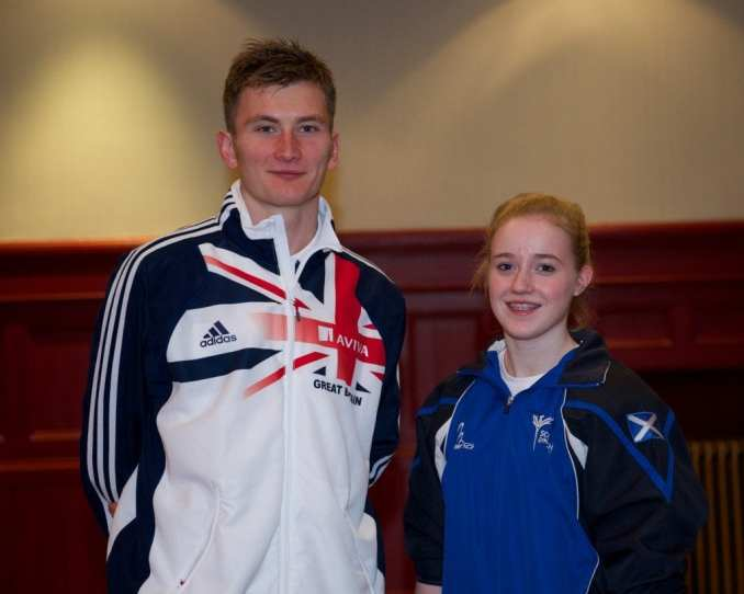 2014 Commonwealth Games hopefuls, Derek Hawkins and Cara Kennedy