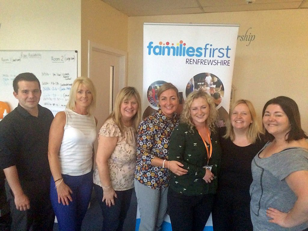 from left to right: Craig Callery (Left) Elizabeth Cannon, Margaret McGrory, Pamela McKechan (Middle) Mairead O'Keefe, Penny Ralston, Elizabeth McInally (Right)
